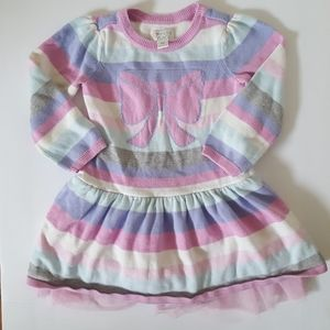 Children's Place Striped Sweater Bow Dress